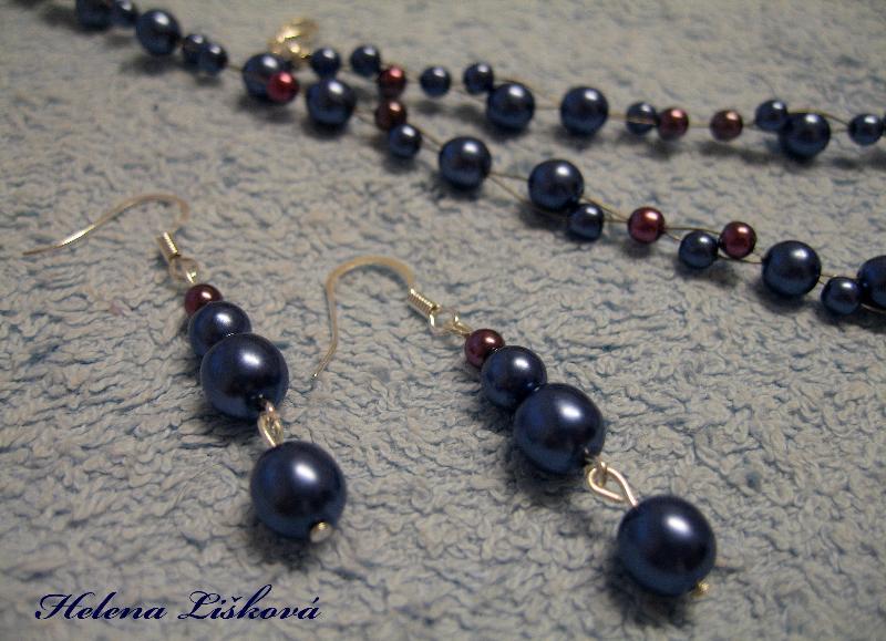 modro fialkové perličky