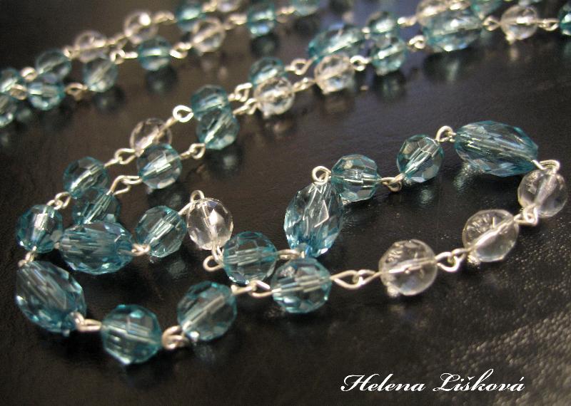 modro zelený náhrdelník