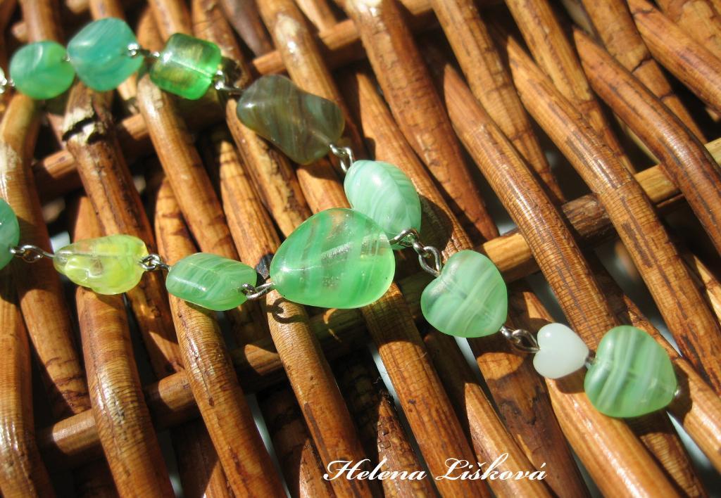zelený náhrdelník pro Kačenku